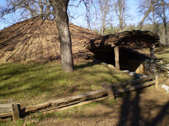 Chaw'se Roundhouse, photo by Mary Mussell.  When this photo was taken, Jan. 2011, the structure was closed