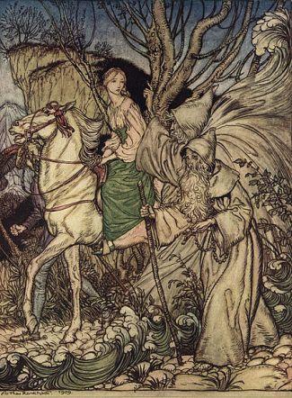 Undine by Arthur Rackham, 1909.  Public domain