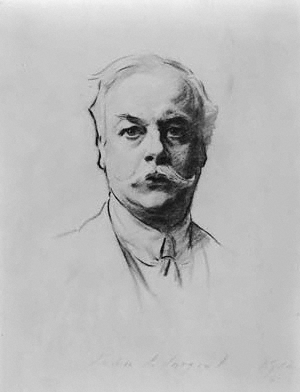 Kenneth Grahame by John Singer Sargent, 1912.  Public domain.
