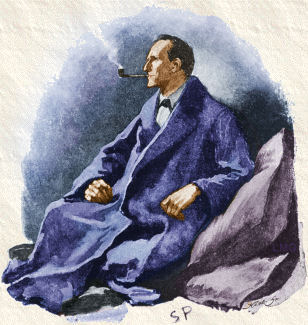 Sherlock Holmes by Sidney Paget.  Public domain.