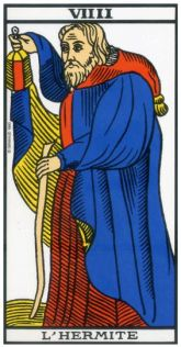 The Hermit, from the Tarot