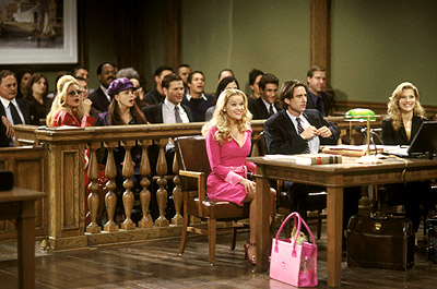 "Reese Witherspoon for the defense in ""Legally Blonde"""