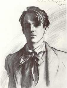 W.B. Yeats by John Singer Sargent.  Public Domain