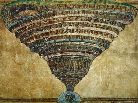 La Mappa dell'Inferno by Botticelli
