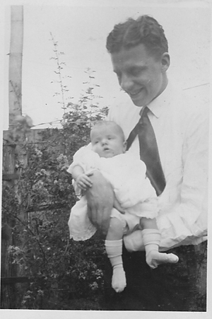 Grandfather Morgan and my mother, 1923
