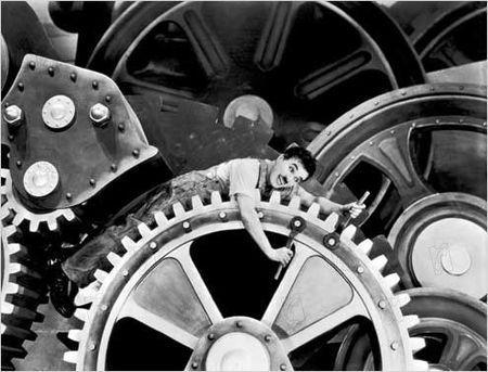 """Charlie Chaplin in """"Modern Times.""""  CC-by-SA-2.0"""