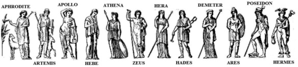 "Hillman often used the Greek pantheon to illustrate his concept of the ""polytheistic psyche"""