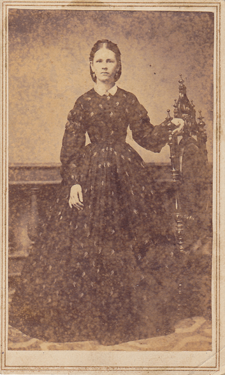 old photo of young woman