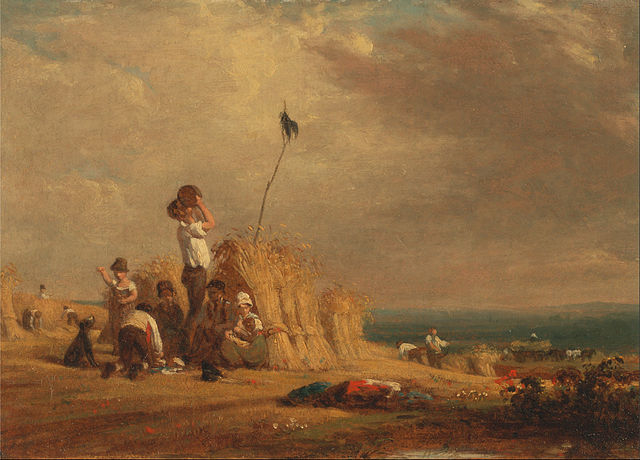 Mid-Day Rest, Harvest, by William Frederick Witherington, British, ca. 1840.  Public domain