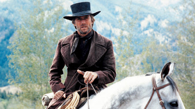 "Clint Eastwood as Preacher in ""Pale Rider."""