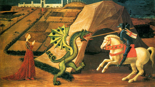 St. George and the Dragon by Paolo Uccello, ca. 1458
