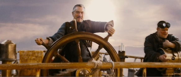 Captain Shakespeare at the helm
