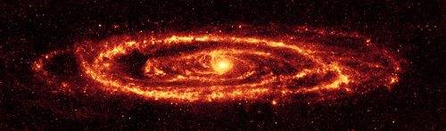 Andromeda galaxy.  Nasa photo, public domain