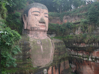 Leshan Giant Buddha, 2010, by Wilson Loo.  CC BY-NC-ND 2.0