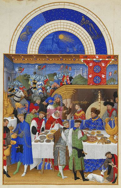 January from Les Très Riches Heures du duc de Berry, 15th c., public domain.