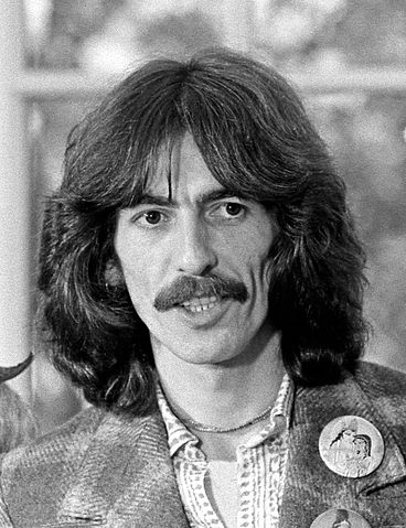 George Harrison in the Oval Office at the invitation of President Ford, 1974.  Public Domain