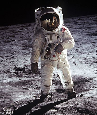 Apollo suit.  NASA photo, Public Domain
