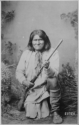 Geronimo, 1887.  Public Domain