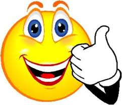 Happy face thumbs up