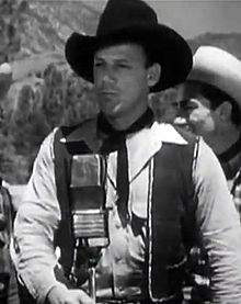 "Bob Nolan in ""The Lights of Old Santa Fe,"" 1944"