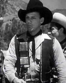 "Bob Nolan in ""The Lights of Old Santa Fe,"" 1944"