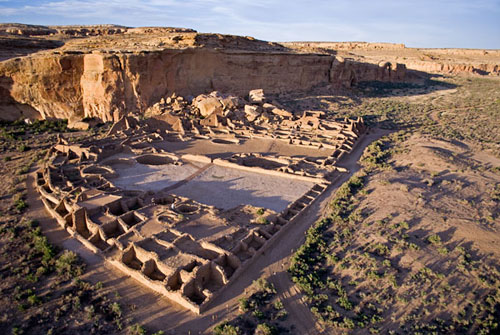 Pueblo Bonito ruins, Chaco Canyon.  Photo courtesy of Scott Haefner, scotthaefner.com