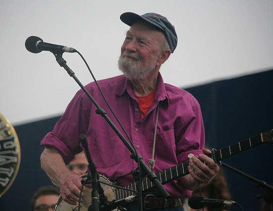 Pete Seeger, 1919-2014.  Photo by wfuv, Creative Commons