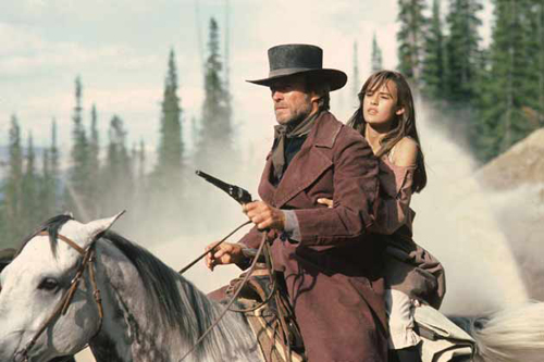 "Clint Eastwood and Sidney Penny in Pale Rider, 1985, my favorite ""Heroic Outsider"" western"