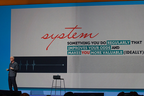 Scott Adams shares his ideas at IBM Connect 2014.  Photo by Greyhawk68, CC BY-NC-ND 2.0