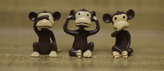 See no evil, hear no evil, speak no evil, by John Snape, CC-BY-SA-3.0