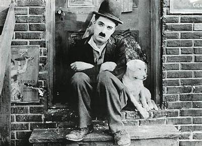 charlie chaplin and dog