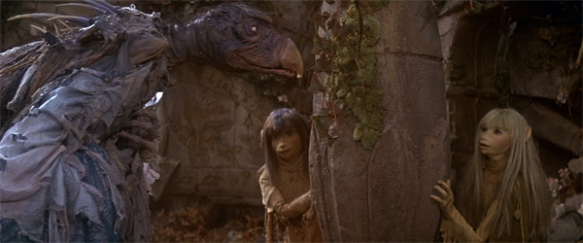 The Dark Crystal: Jen and Kira confront a Skeksis at The House of the Old Ones