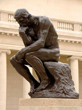 The Thinker, Rodin. Public Domain