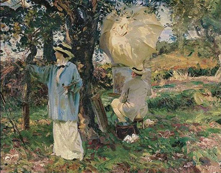 The Sketchers by John Singer Sargent, 1914, public domain