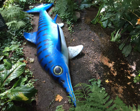 The ichthyosaurus is suffering from the drought this year just like we are.