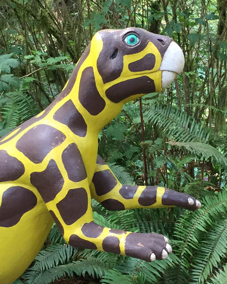 psittacosaurus, at the Prehistoric Gardens, Port Orford, Oregon
