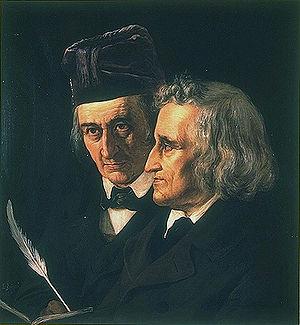 Wilhelm and Jacob Grimm, 1855. Painting by Elisabeth Jerichau-Baumann