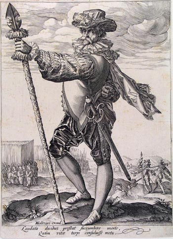 German mercenary pikeman. Wikimedia Commons