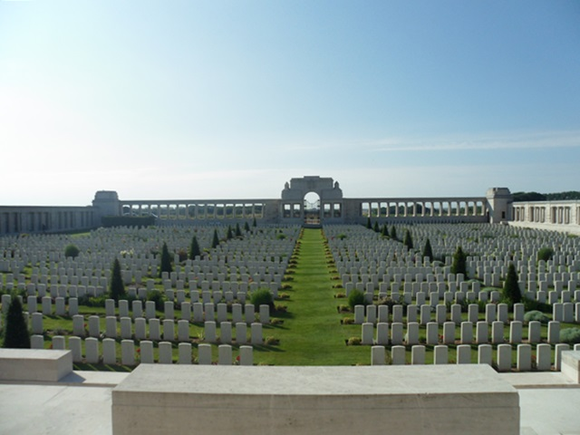 Cemetery at Poziers, France, in the Somme River Valley