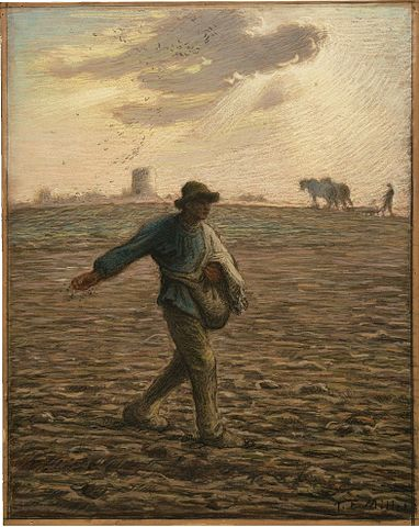 """The Sower"" by Jean-Francois Millet, 1866-67, Public Domain"